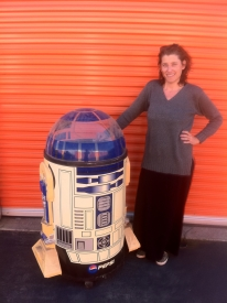 This is me after I befriended a guy at his storage unit cuz, well, it's R2D2!