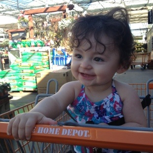 Abby loves driving her cart!