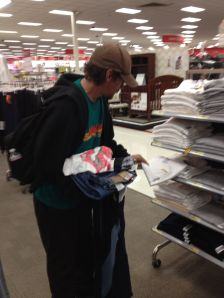 A week later, you (the readers) bless Dave with donations from this blog. Dave goes shopping at Target!