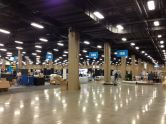 This is what the show floor looks like before everything is set up