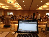 This is what I saw as we prepared for our session. This is my view of the audience