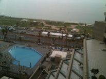 This is what I see out my window. That's the Mediterranean ocean