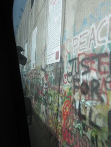 Once we were in Bethlehem, we drove near the wall.