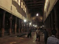 This is inside the Church of the Nativity.