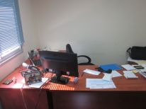 Elly's desk. As I've mentioned before, I'm always interested in seeing how people set up their office.