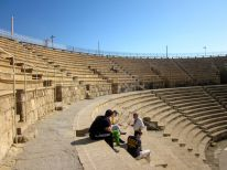 The Theatre in Caesarea, which is the most ancient of all theaters found in Israel.