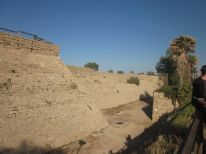 This is a moat that surrounds a fortified city built during the 9th century
