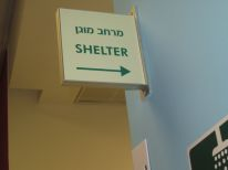 Many of the buildings I was in had a shelter like this one