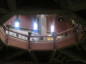The church has three levels; this is from the second level looking up