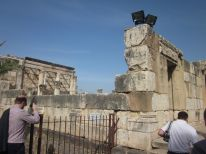 The ruins of a temple, which Jesus would have visited in his day
