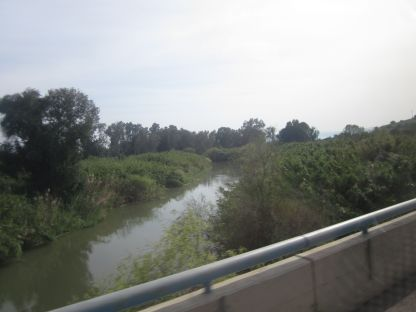 Crossing the Jordan River.